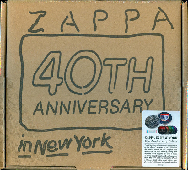 (Used CD) - Frank Zappa - Live in New York 40th Ann Dlx Edition