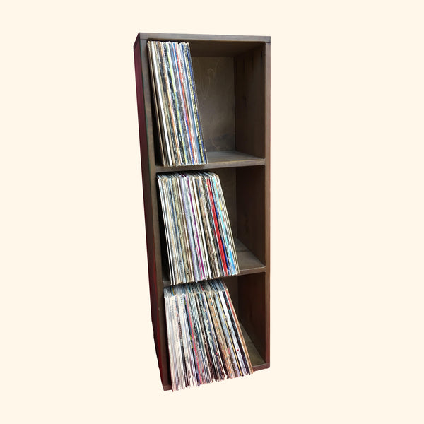 Wooden Three Tier Record Crate (IN-STORE PICKUP ONLY)