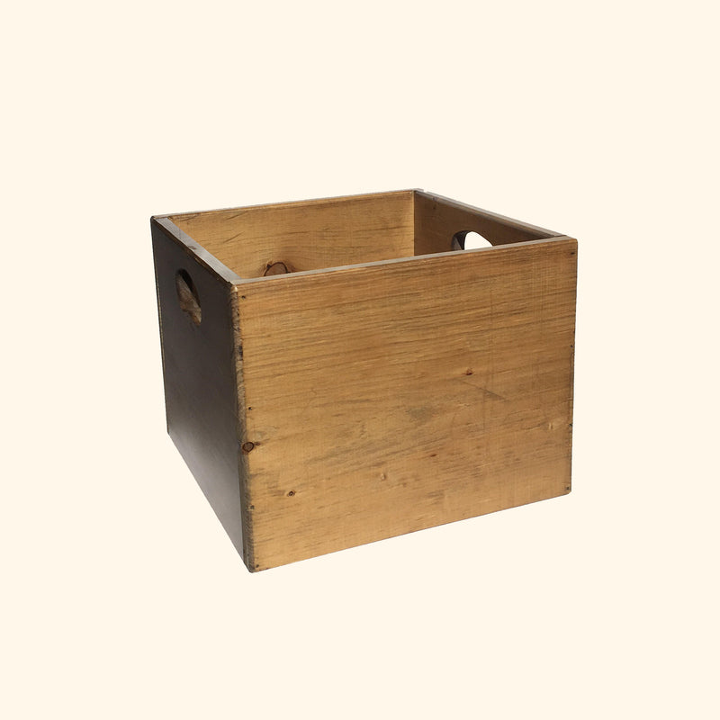 Wooden Record Crate (IN-STORE PICKUP ONLY)