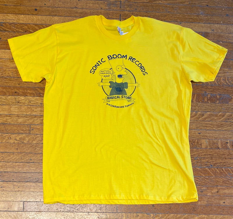 Sonic Boom T-shirt - Bart Simpson (Yellow)