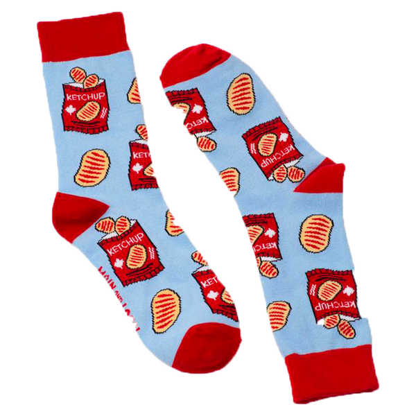 Main & Local Canadian Ketchup Chips Socks (ONE SIZE)