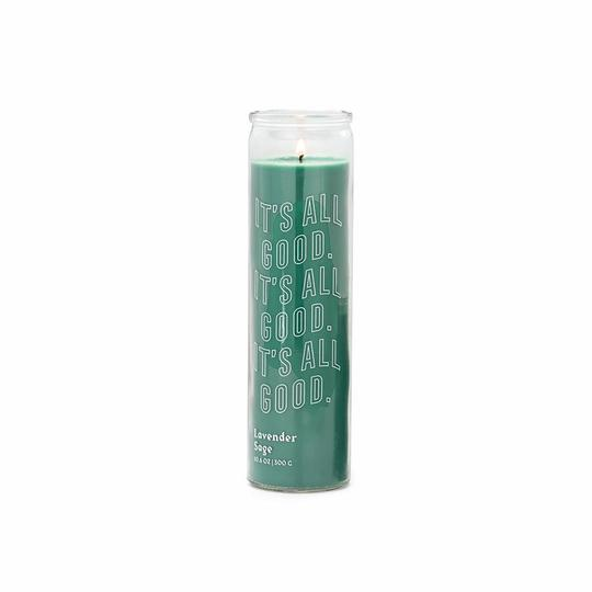 Lavender & Sage Tall Prayer Candle