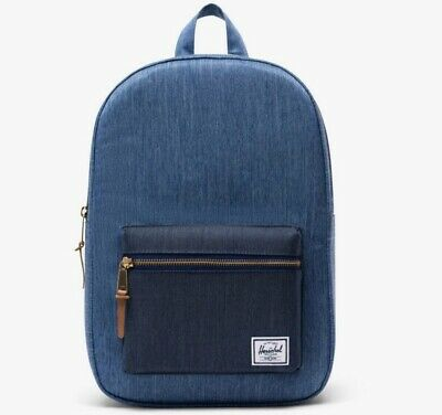 Herschel Supply Co. - Settlement Backpack (Faded Denim/Indigo Denim)