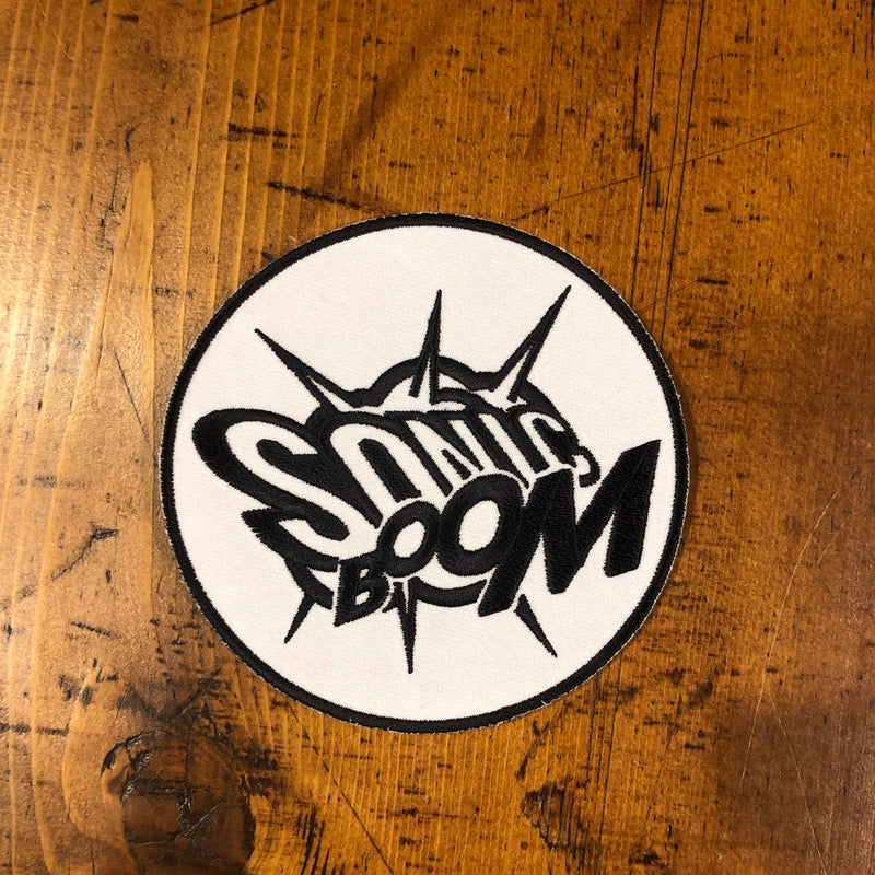 Sonic Boom Patch (Black & White)