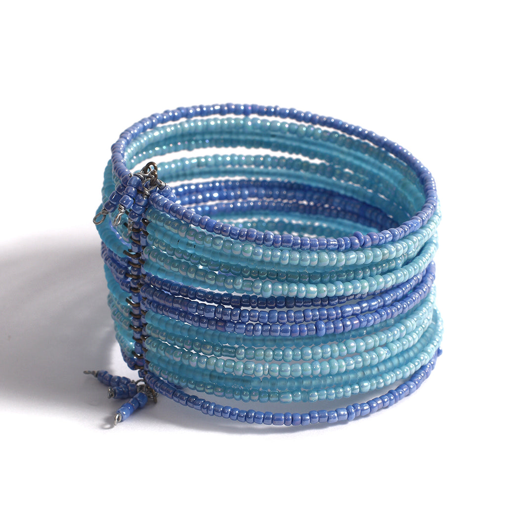 Beaded Multilayered Bracelet - Blue
