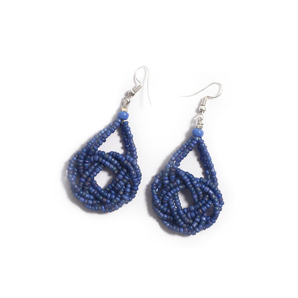 Beads Earrings - Blue