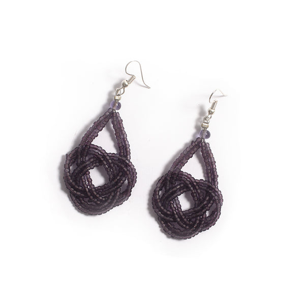Beads Earrings - Violet