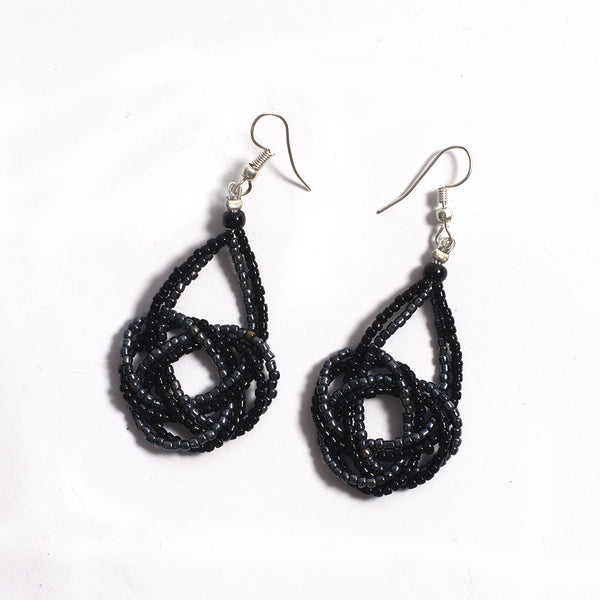 Beads earrings - Black
