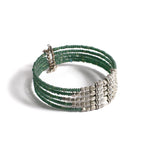 Metallic Green Beaded Bracelet