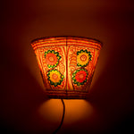 Hand-painted Leather Lampshade - Floral
