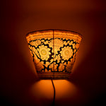 Hand-painted Leather Lampshade - Yellow and Black