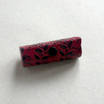 Handcrafted Leather Lipstick Case - Red
