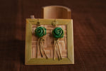 Handcrafted Areca Palm Leaf Earrings
