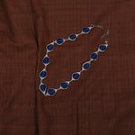 Handcrafted Glass Beads Neckpiece - Navy Blue