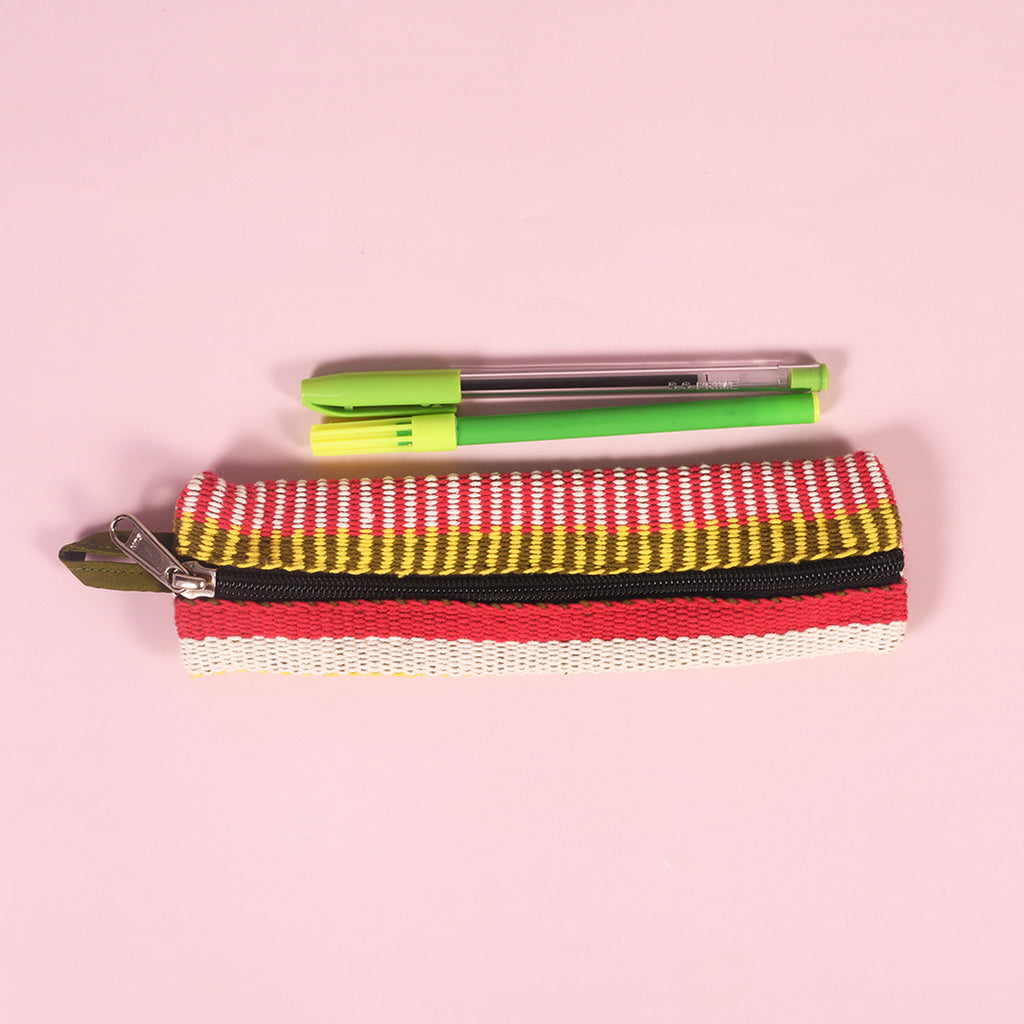 Handcrafted Pouch - Striped