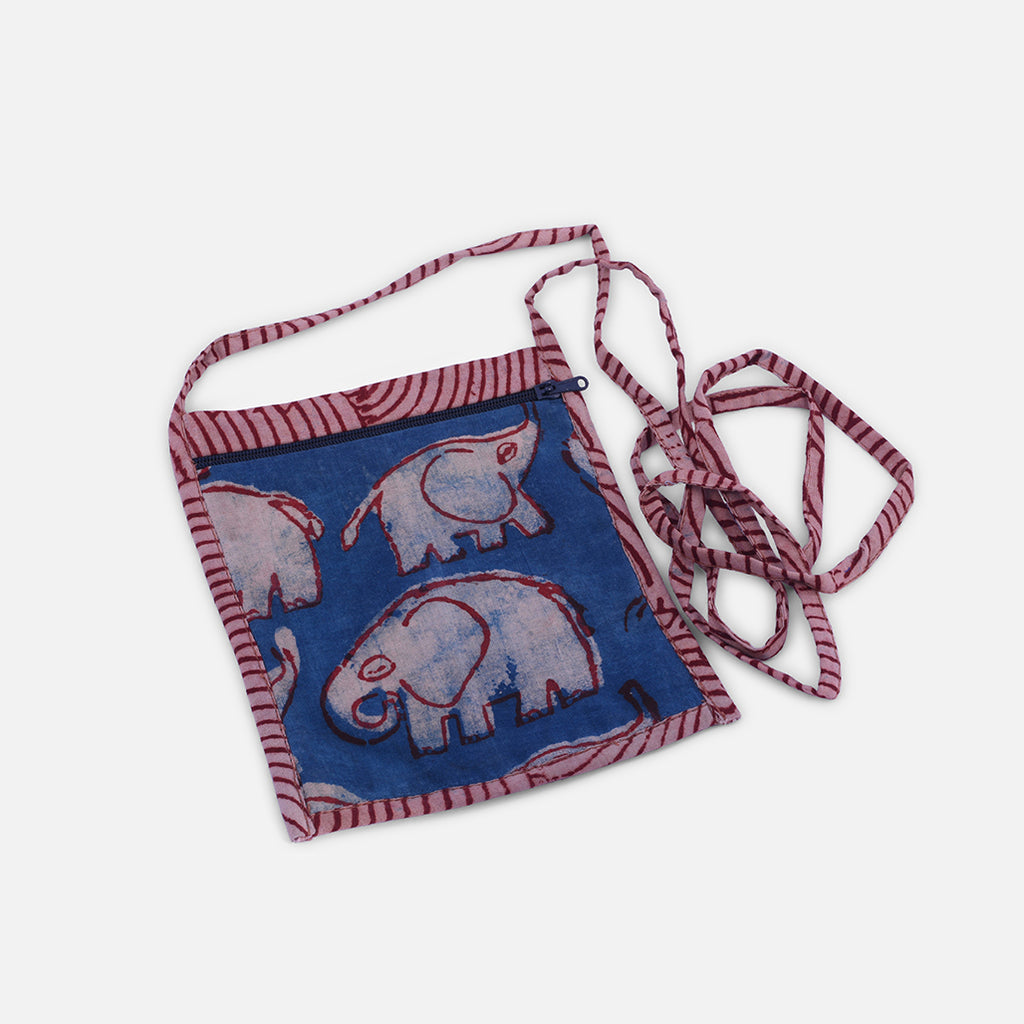 Kid's Sling Bag - Block Print