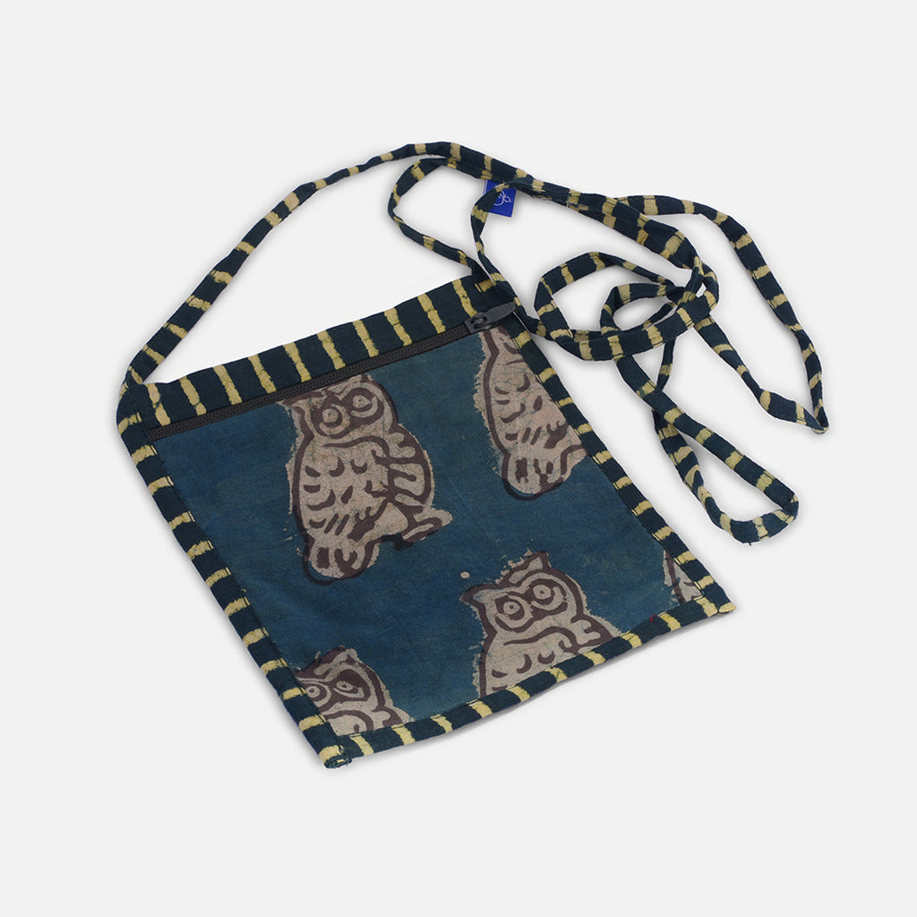 Kid's Sling Bag - Owl Block Print