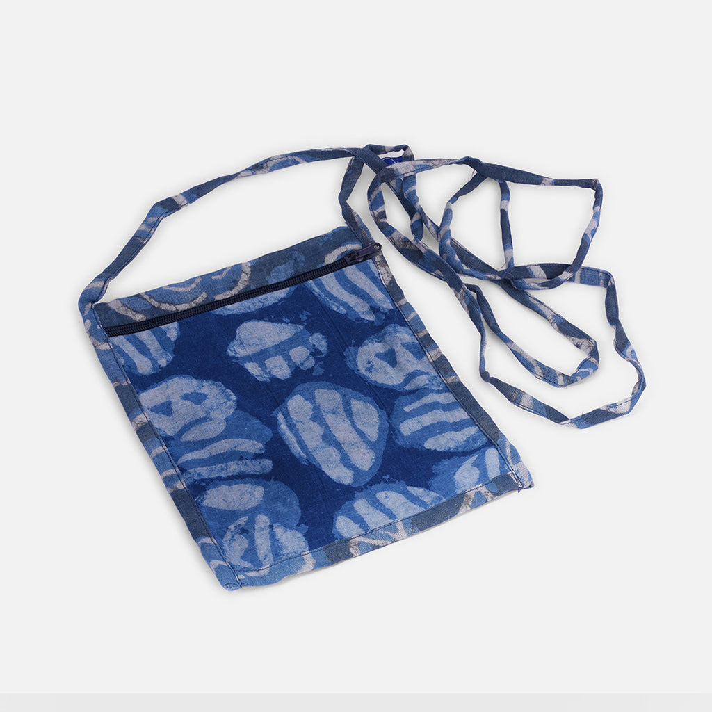 Kid's Sling Bag - Indigo Block Print