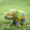 Miranda the Young Elephant - Recycled Fabric Toy (Yellow&Green)