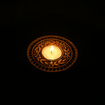 Wooden Block Tealight Candle Holder - Spring