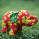 Miranda the Young Elephant - Recycled Fabric Toy (Floral)