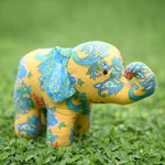 Miranda the Young Elephant - Recycled Fabric Toy (Yellow)