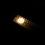 Wooden Block Tealight Candle Holder - Zigzag