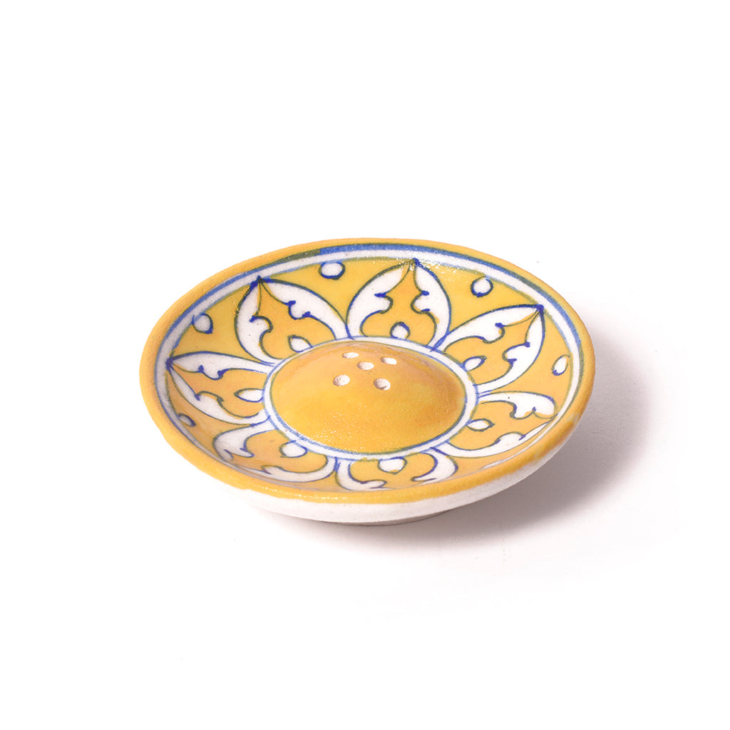 Ceramic Incense Holder - Yellow