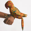 Recycled Fabric Toy - Captain Parrot Orange