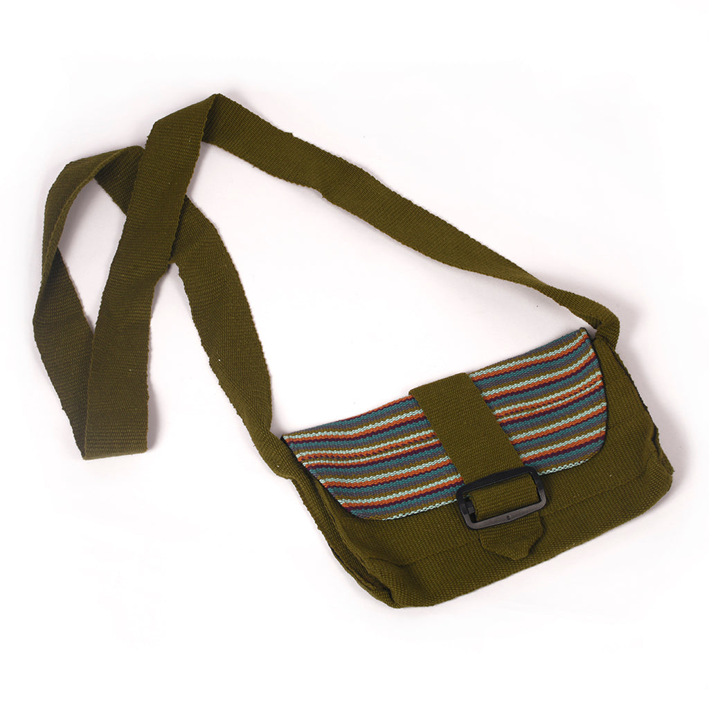 Handmade Green Sling Bag - Green