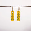 Hand painted Clay Earrings - Yellow Green