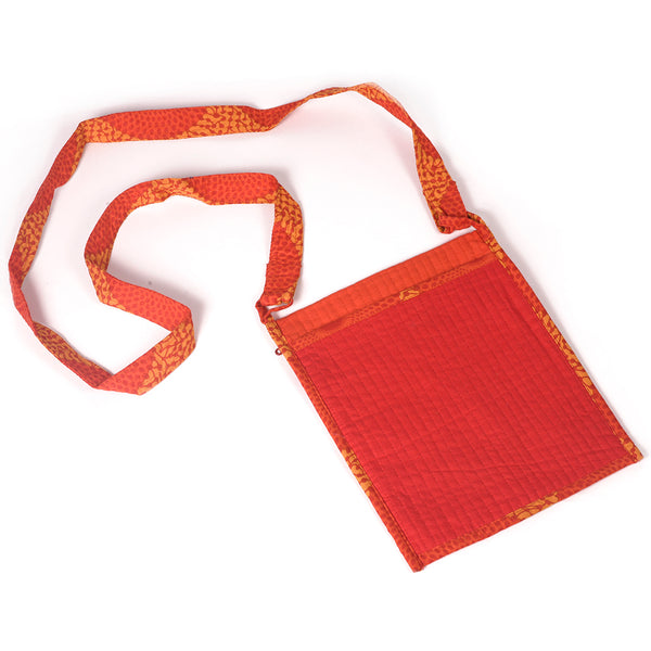 Handcrafted Quilted Sling Bags - Red