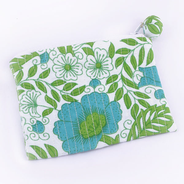 Quilted Coin Purse - Floral