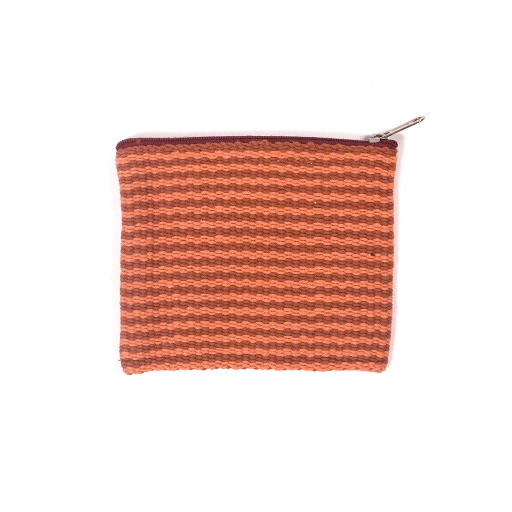 Handcrafted Coin Pouch - Orange