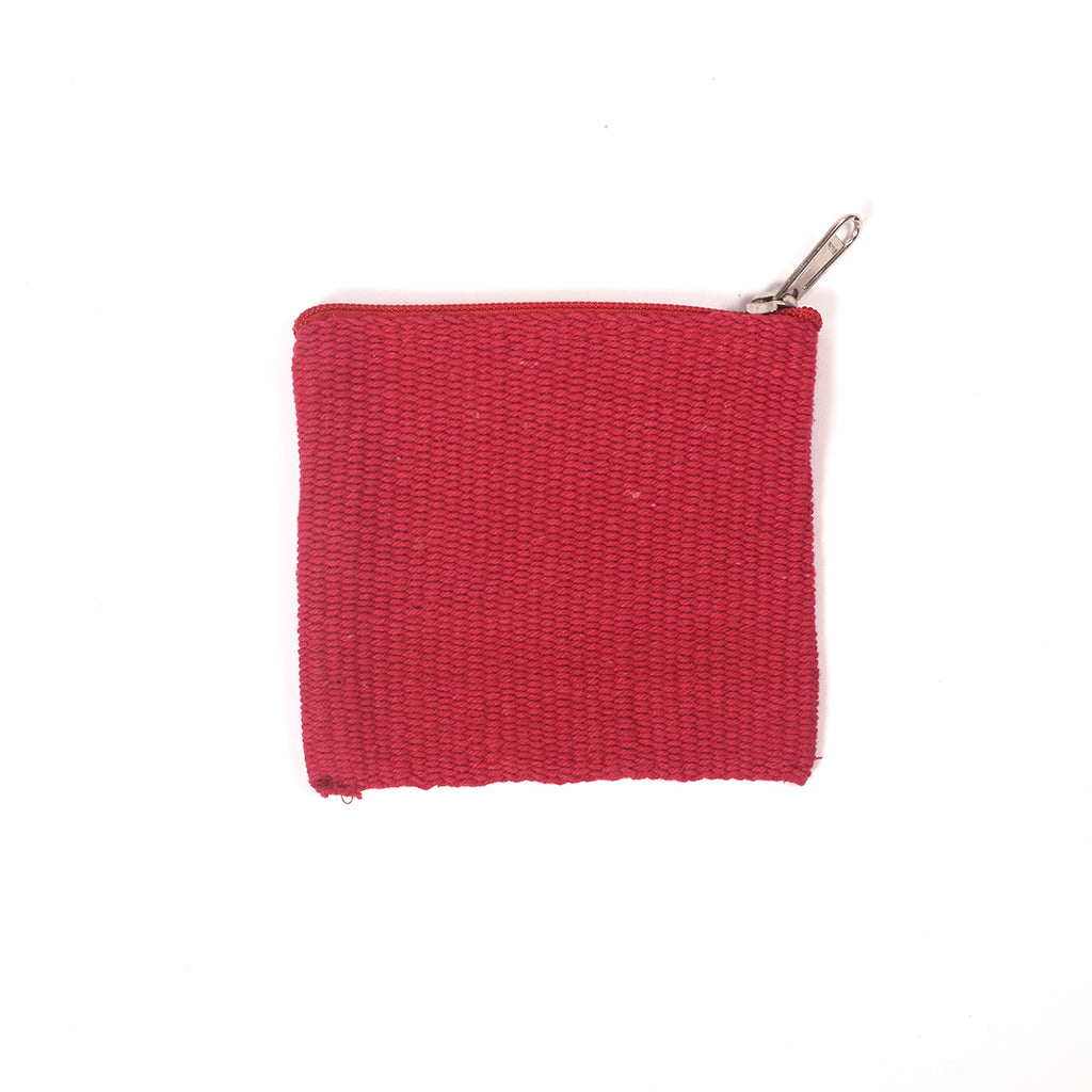 Handcrafted Coin Pouch - Red