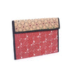 Handcrafted Kanta Work File Holder - Red and Cream Color