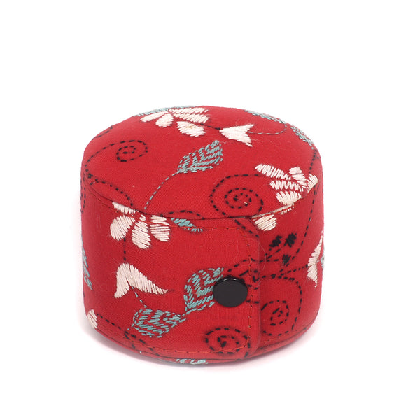 Kanta Work Handcrafted Bangle Box - Red