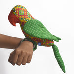 Recycled Fabric Toy - Captain Parrot with Green Wings