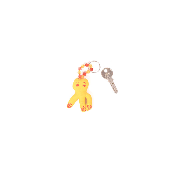 Recycled Fabric Keychain - Yellow Doll