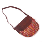 Handcrafted Handbag with Leather Strap - Brown