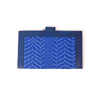 Handcrafted Kanta Work Wallets - Metallic Blue