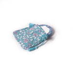 Gypsy Pouch with Mirror - Light Blue