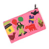 Handcrafted Applique Work Pouch - Pink