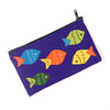 Handcrafted Applique Work Pouch - Fishes
