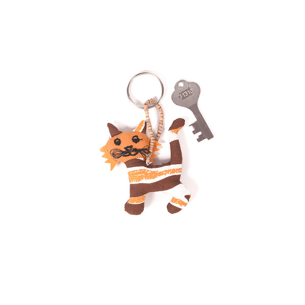 Recycled Fabric Keychain - Tiger