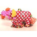 Recycled Fabric Toy - Horse and Elephant Wall Hanging