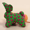 Recycled Fabric Rabbit Wall Hanging - Green and Red