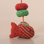 Recycled Fabric Fish Wall Hanging - Red