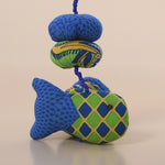 Recycled Fabric Fish Wall Hanging - Blue