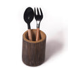 Wood and Black Horn Fork & Spoon